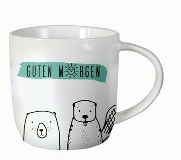 Gute Laune Tasse Guten Morgen Porzellan Becher Grafik
