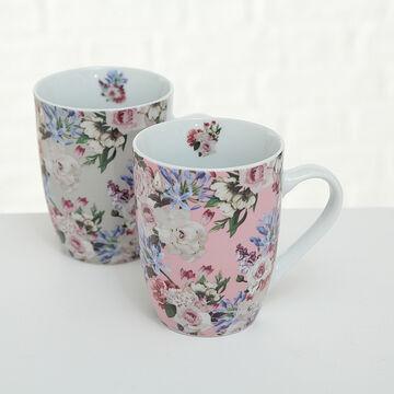 Bloominghome Tasse mit Henkel Herzen 400ml Kaffeetasse Herztasse
