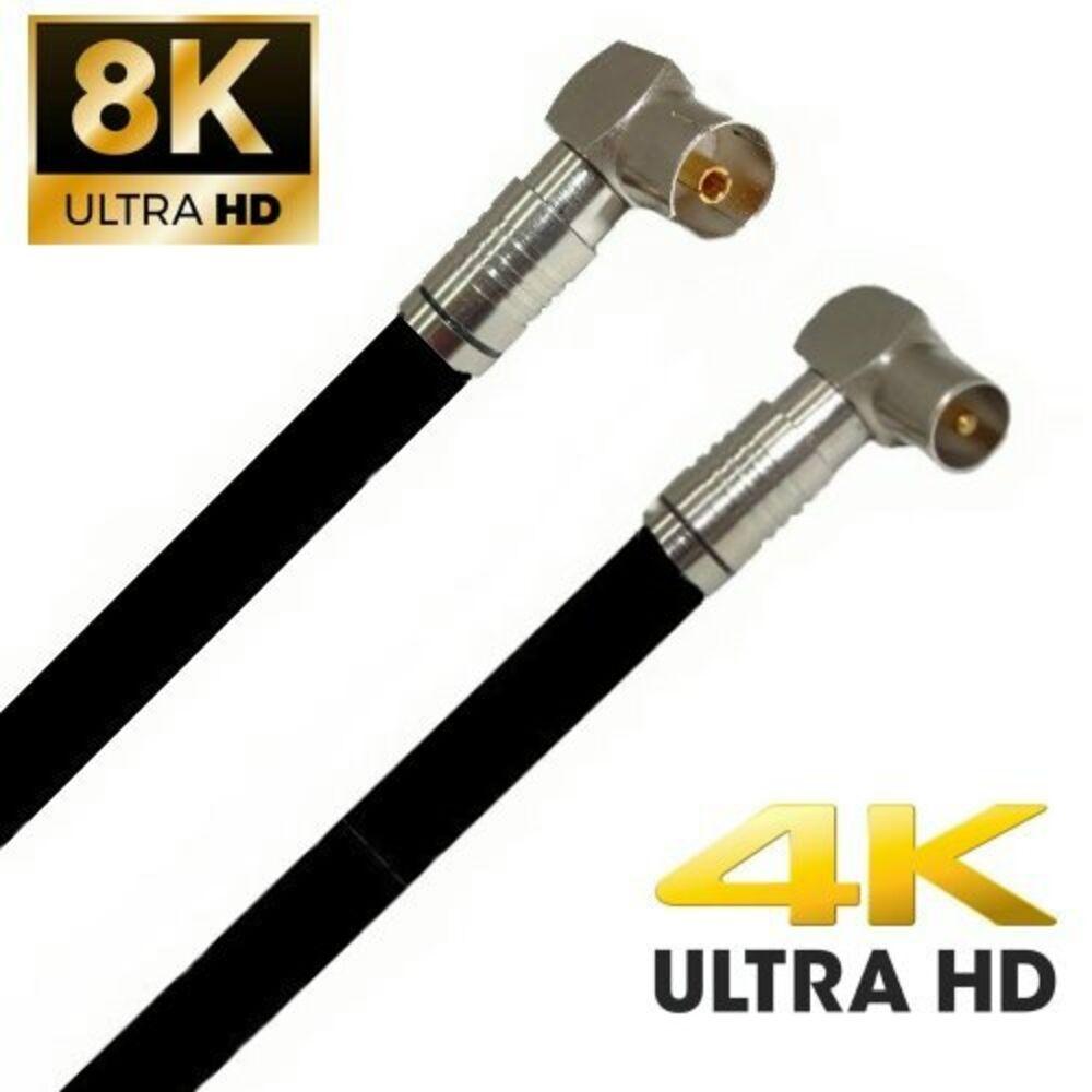TV Antennenkabel Koaxkabel RG6 Koax Stecker Koax Kupplung 135dB HD 4K 8k HQ 7mm