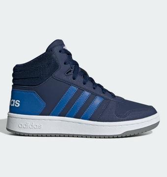 Details zu Adidas Hoops 2.0 K Mid Schuhe Kinder High Top Sneaker gefüttert Kinderschuhe