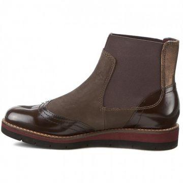Details zu Tamaris Jenna Damen Chelsea Boots Stiefel Leder Cigar, SONDERPREIS, Gr 37 41