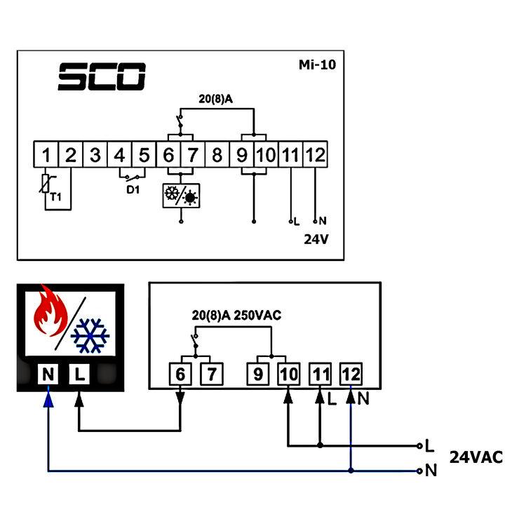 24v AC//DC Temperatura Regolatore Termostato Controllo Temperatura Interruttore Incl sensore