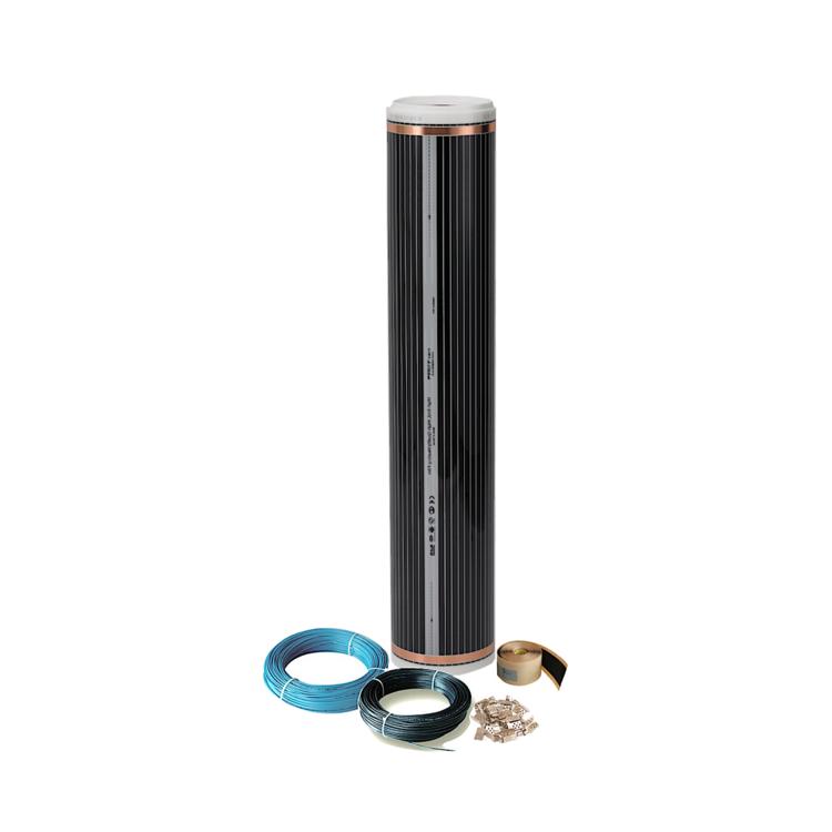 Elektrische Infrarotheizung Fu/ßbodenheizung Laminatheizung Infrarot Fu/ßbodenheizung 220 Watt Rollenware 2,0 m/²