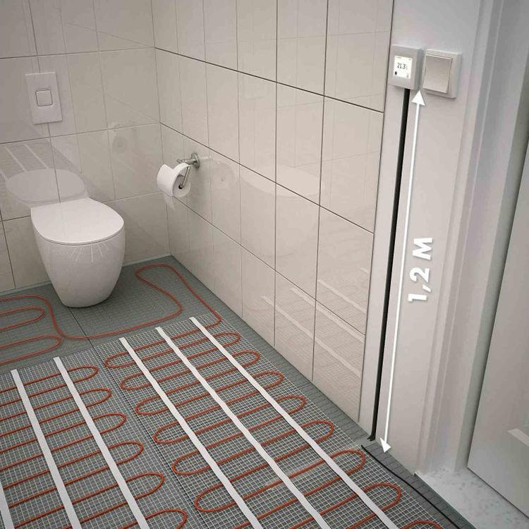 Regler Tyco T2 TA 3,5 m2 elektrische Fußbodenheizung Fliesenheizung