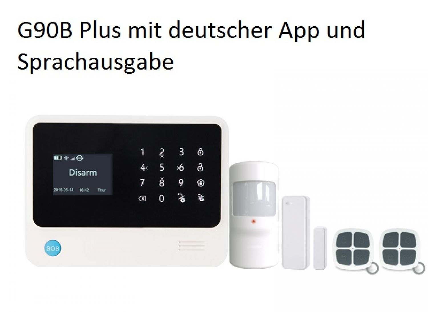 wifi gsm haus alarmanlage sicherheitssystem mit lcd anzeige app in deutsch ebay. Black Bedroom Furniture Sets. Home Design Ideas