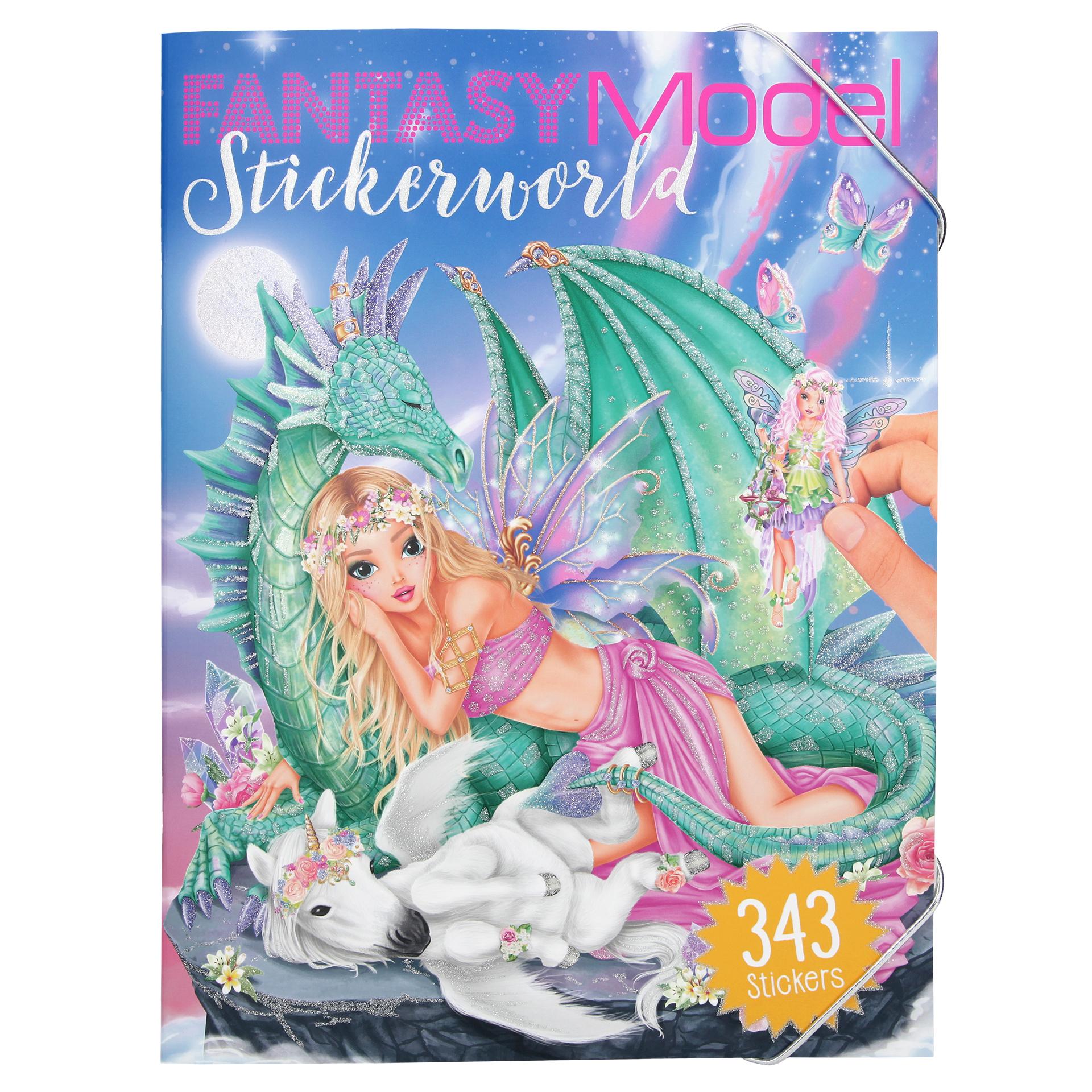FANTASYModel Sticker World Stickerbuch Kreativbuch Stickerbögen TOPModel 10558