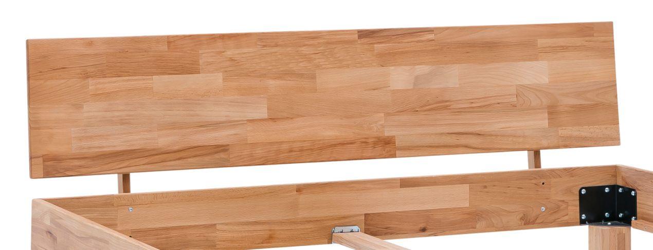 celine bett kernbuche massiv ge lt 140x220 berl nge ebay. Black Bedroom Furniture Sets. Home Design Ideas