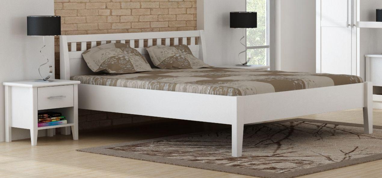 paula bett komfortbett kiefer massiv wei lackiert 140x200 ebay. Black Bedroom Furniture Sets. Home Design Ideas