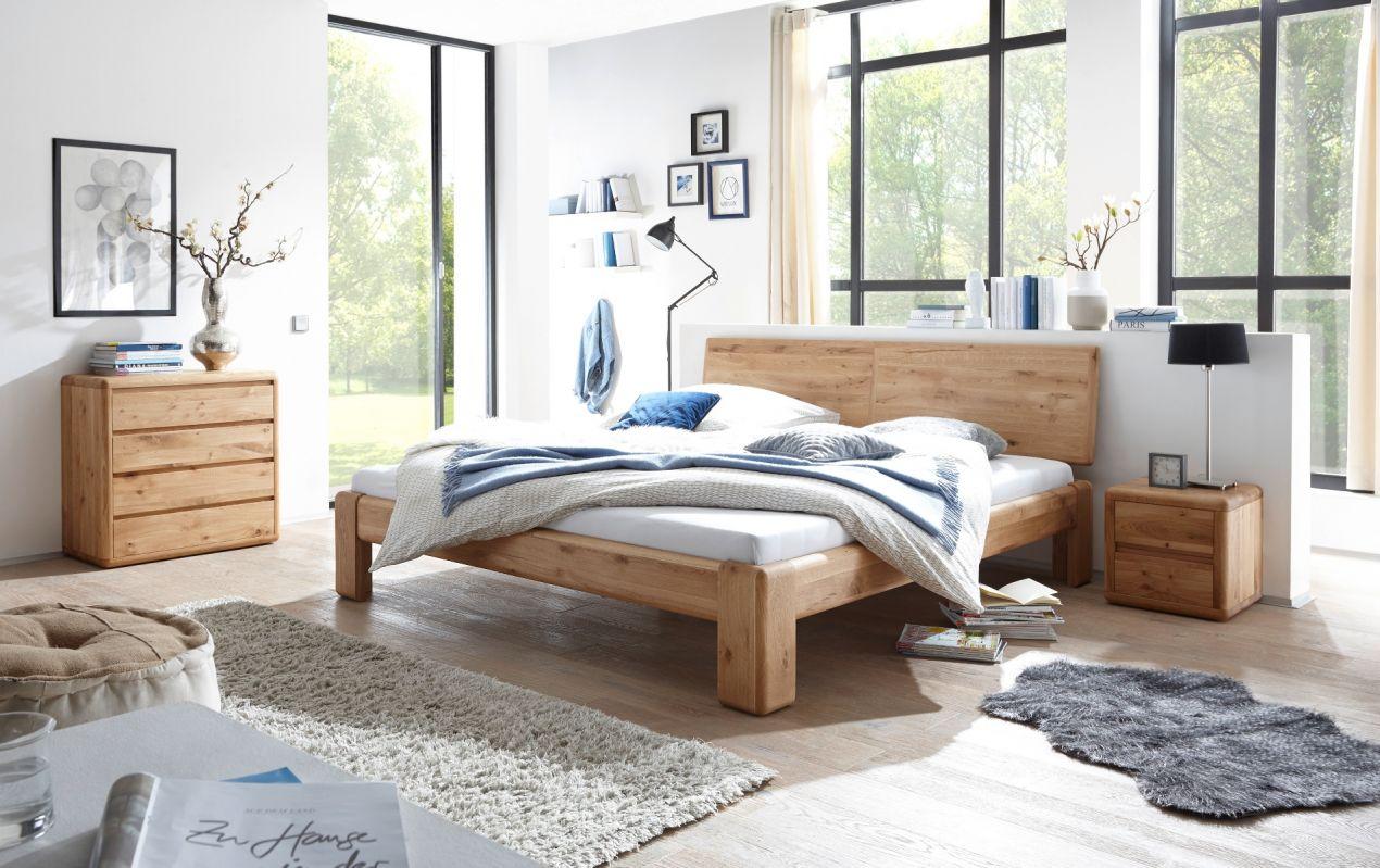 verona bett 160x200 wildeiche massiv ge lt ebay. Black Bedroom Furniture Sets. Home Design Ideas