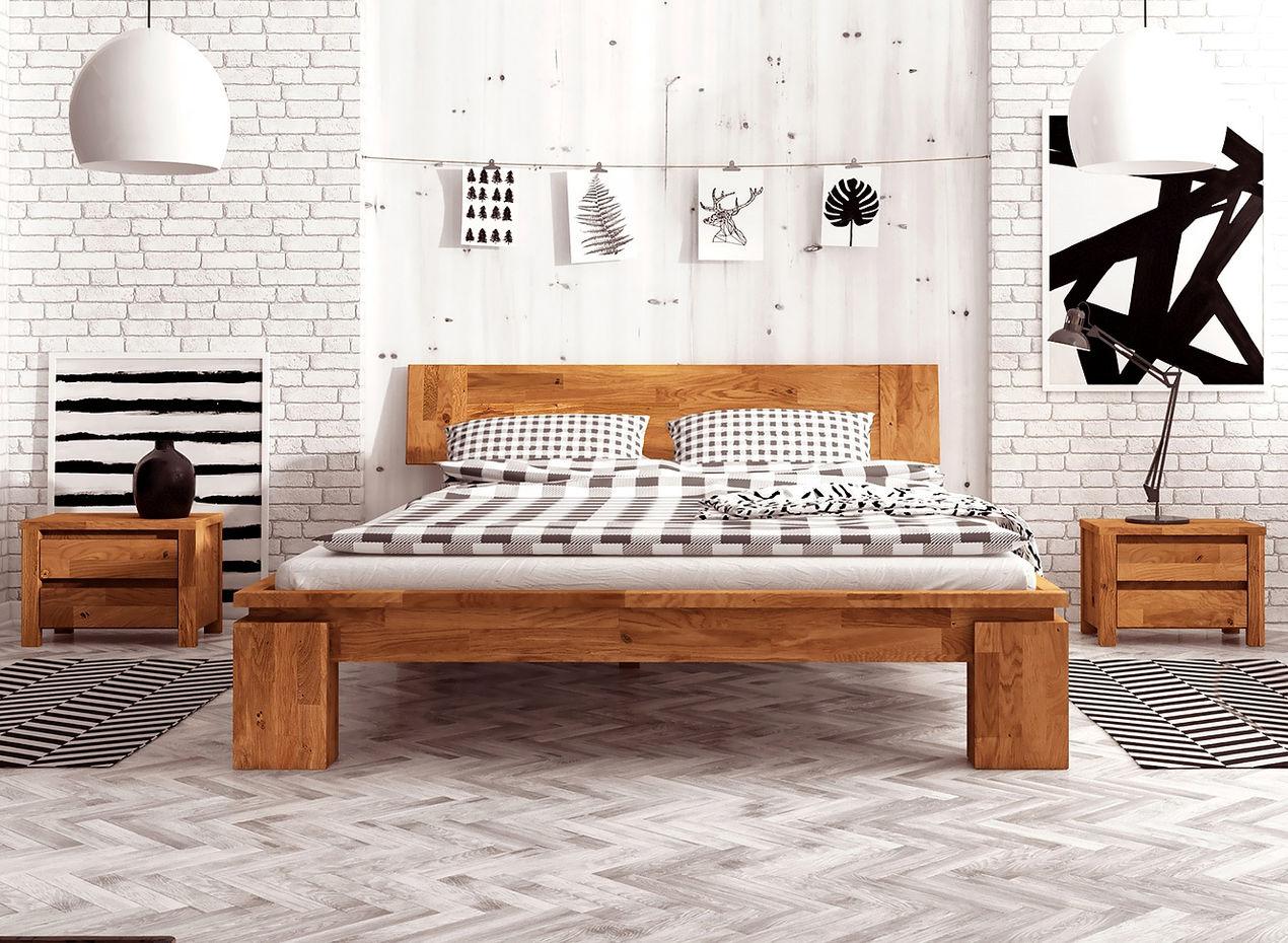 VOLO High Doppelbett 200x200 Wildeiche massiv geölt | eBay