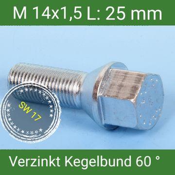 20 Radschrauben Radbolzen Schrauben M12 x 1.5 x 47 Kegel Kegelbund 60° SW17