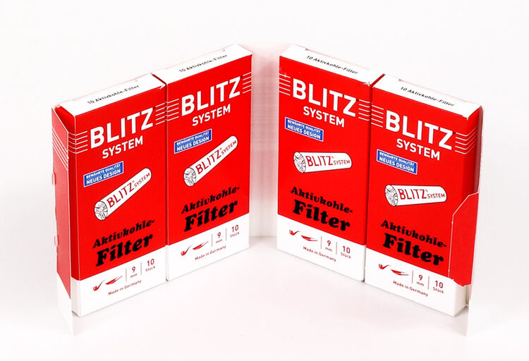 400 Filter 200er Box BLITZ SYSTEM Aktivkohle-Filter 2 Boxen 9 mm Durchmesser