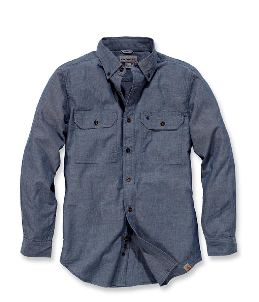 Arbeitshemd-Freizeithemd-von-Carhartt-S202-L-S-Fort-Solid-Shirt