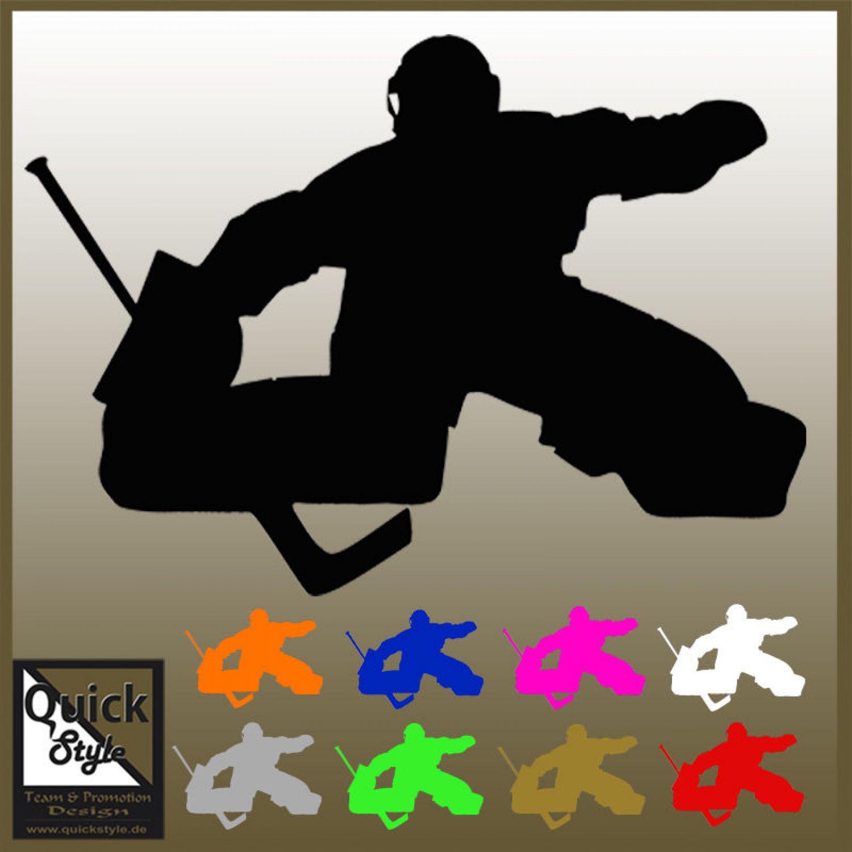 Hockey Goalie Decal Sticker Silhouette Ebay