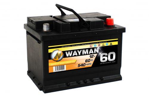 wayman autobatterie w60t 12v 60ah 540a starterbatterie l. Black Bedroom Furniture Sets. Home Design Ideas