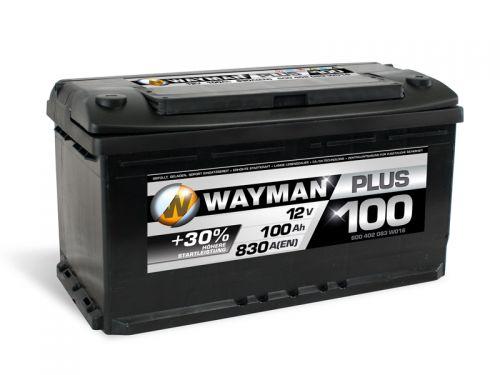 wayman plus autobatterie 12v 100ah 830a w100p geladen und. Black Bedroom Furniture Sets. Home Design Ideas