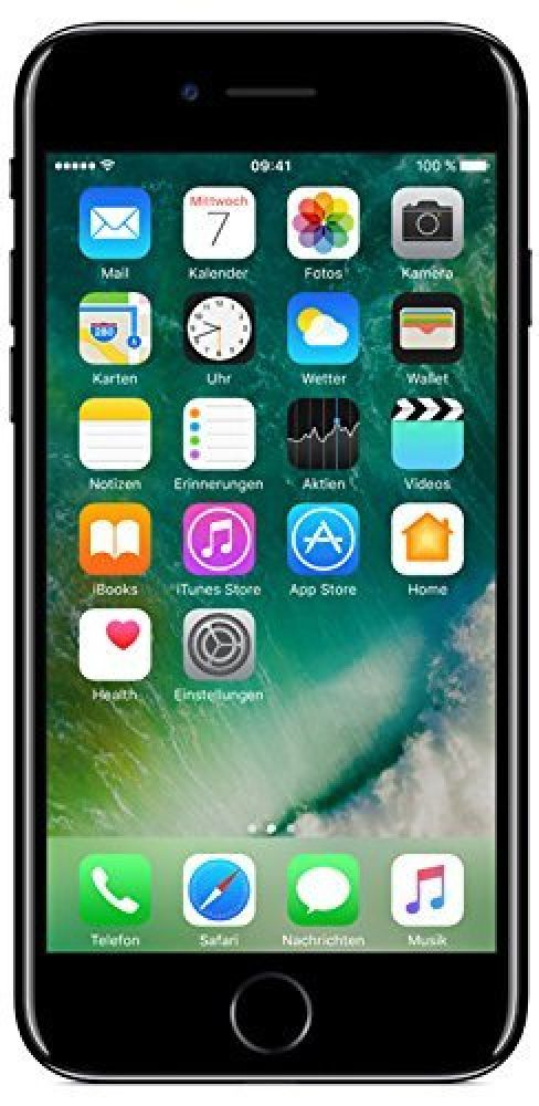 apple iphone 7 128gb ios diamantschwarz smartphone handy. Black Bedroom Furniture Sets. Home Design Ideas