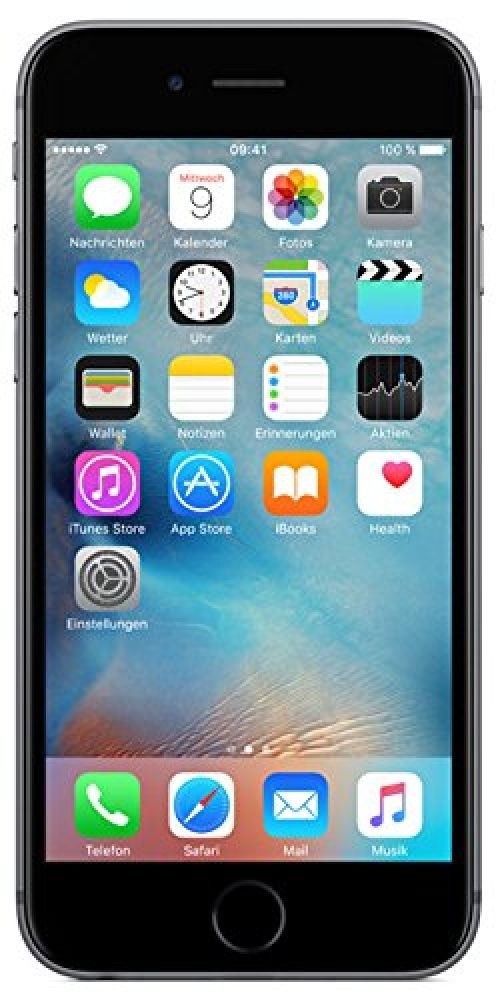 apple iphone 6s 64gb spacegrau smartphone handy ios. Black Bedroom Furniture Sets. Home Design Ideas