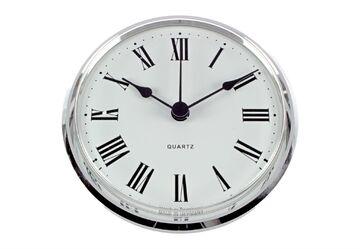 UTS Einsteckwerk Einsteck Uhrwerk Quarz Arabisch Ø 66mm silber Metall *Germany