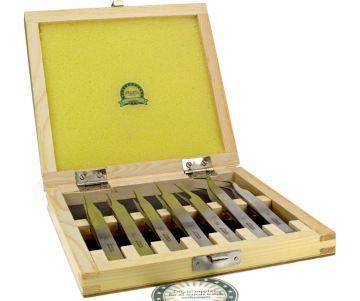 Precision Watchmaker Universal Tweezer set 4 pieces in decorative wooden box