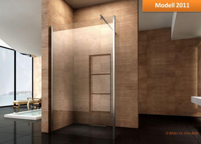 duschwand mit seitenglas walk in dusche duschkabine glaswand duschabtrennung ebay. Black Bedroom Furniture Sets. Home Design Ideas