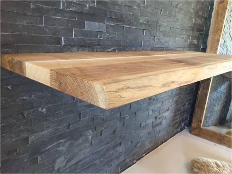 eiche massiv echtholz waschtischplatte mit baumkante ge lt 140x50 cm ebay. Black Bedroom Furniture Sets. Home Design Ideas