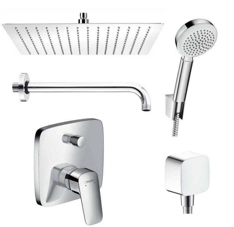 hansgrohe logis unterputz duscharmatur regendusche kopfbrause 30cm set ohne ibox ebay. Black Bedroom Furniture Sets. Home Design Ideas