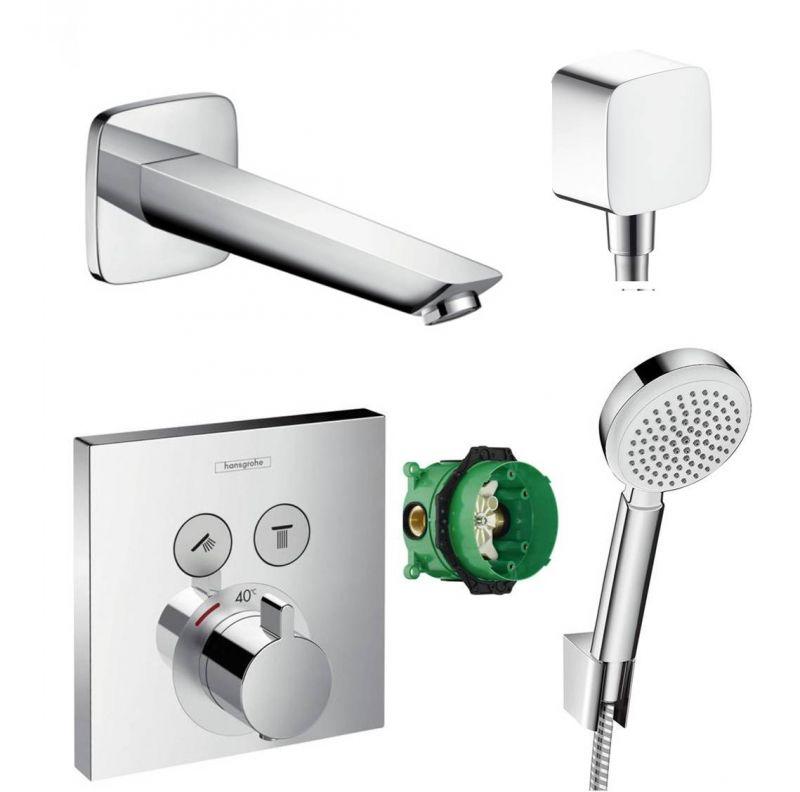 Gut bekannt Hansgrohe ShowerSelect Thermostat Unterputz Badewannenarmatur mit SP62