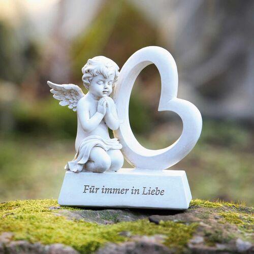 Schutzengel auf Stein mit Spruch Familie ist die Heimat des Herzens Engel Figur