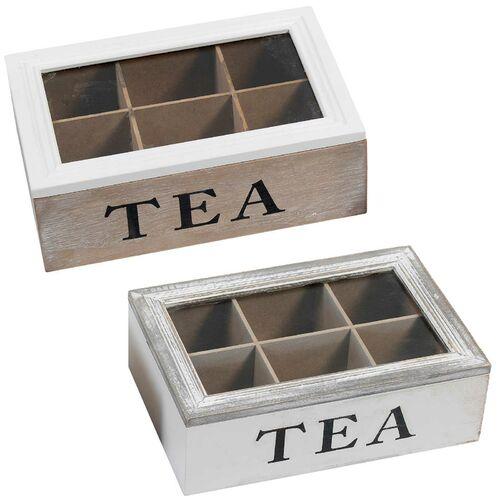 Holz Teebox Aufbewahrung Teekiste Teebeutel Holzbox Vintage Holzteekiste Tee