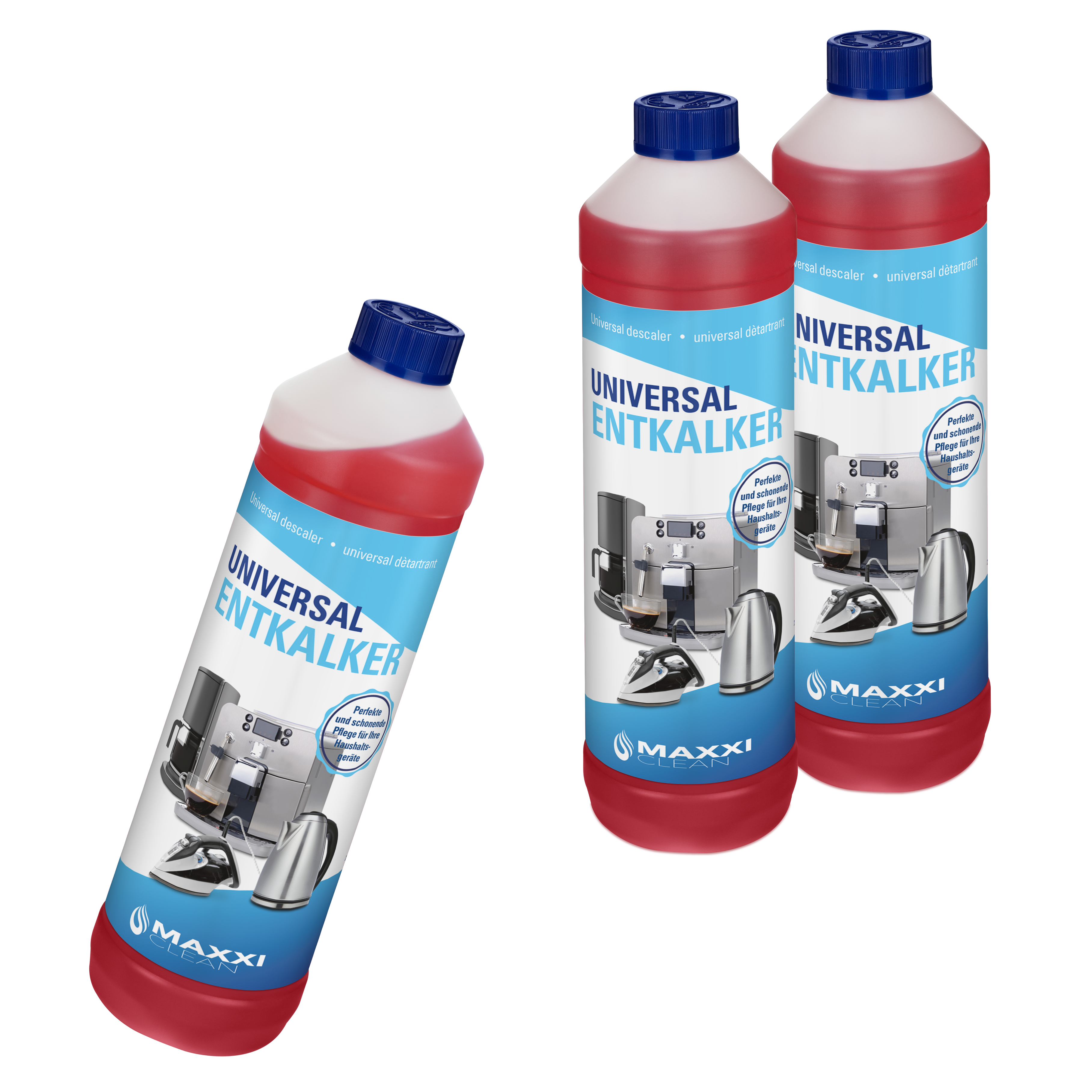 3x 750ml Flüssig Entkalker 18 Reinigungen für alle Marken geeignet Super einfach