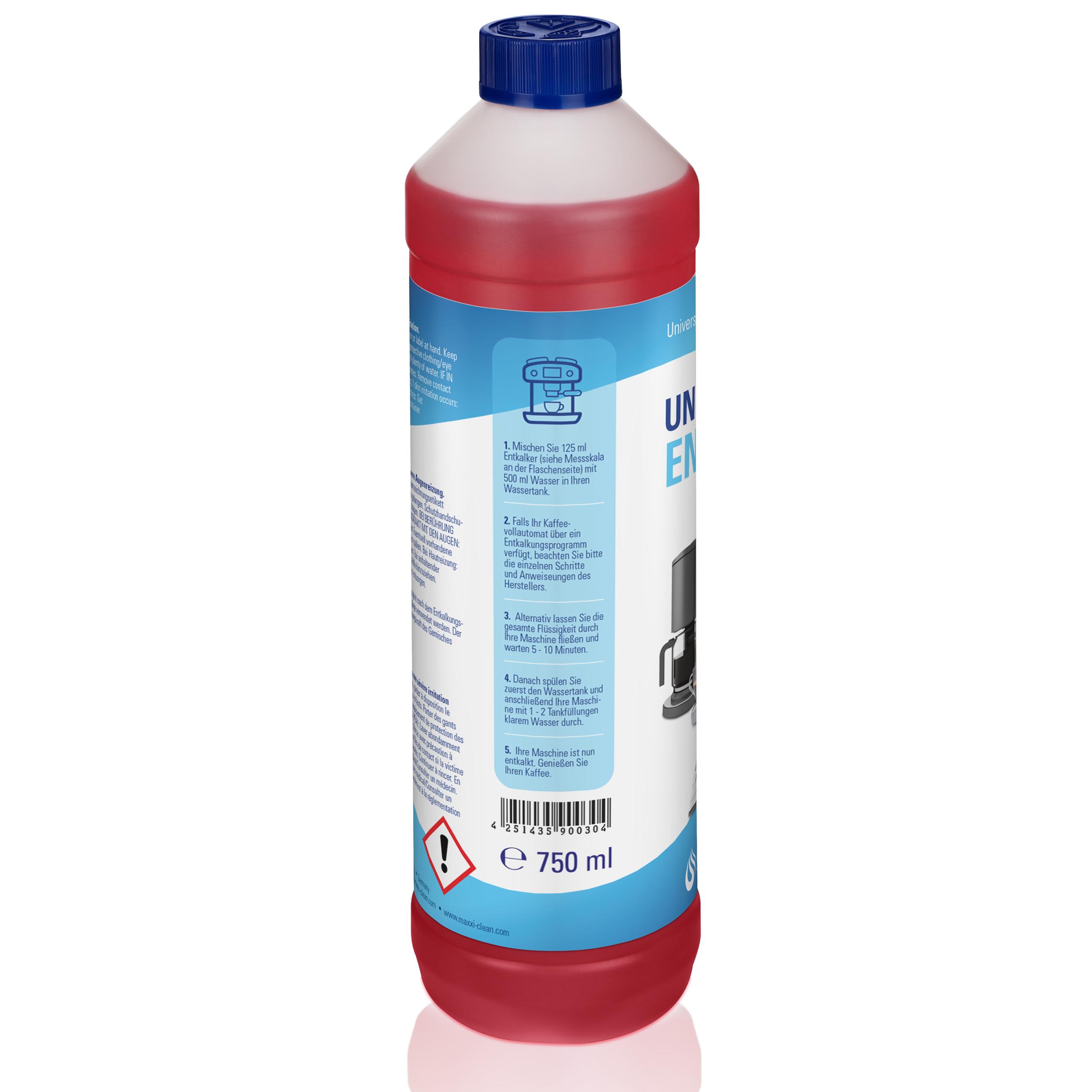 3x 750ml Flüssig Entkalker 18 Reinigungen für alle Marken geeignet Super einfach 3