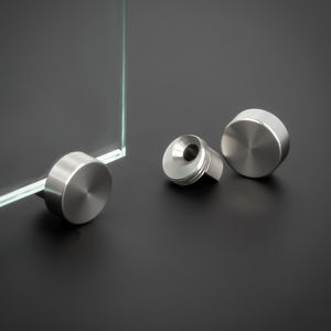 Spiegelhalter-Klemmhalter Ø15mm Glashalter Edelstahl V2A Zierkappe PS 4-6 mm
