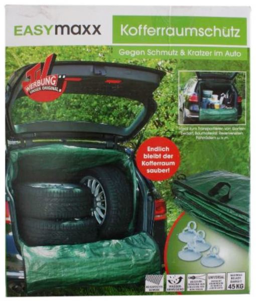 EASYmaxx Kofferraum-Wanne Transport-Sack Gr/ün Garten-Abfall Laub-Sack Rasen M/üll