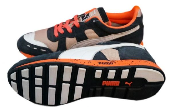 Details zu Puma RS 100 Speckle Schuhe Retro Sneaker Gr. EUR 35 45 R System Herren Kinder
