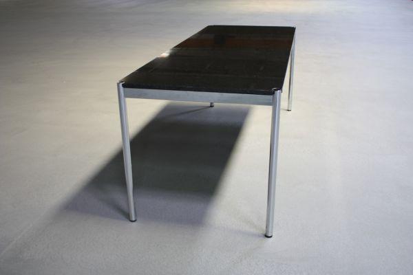 usm haller tisch schreibtisch granittisch 175x75 nero. Black Bedroom Furniture Sets. Home Design Ideas