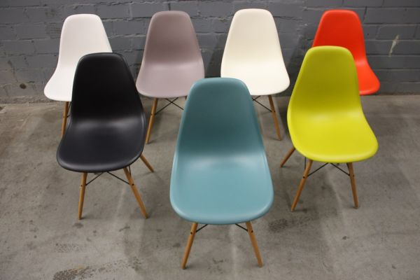 Vitra chair by charles eames dsw plastic stuhl schale ebay for Stuhl dsign arisano