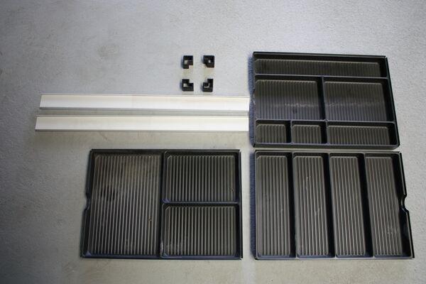 USM Haller Roll-Container Schubladeneinsatz für Stifte Material-einsatz Schale