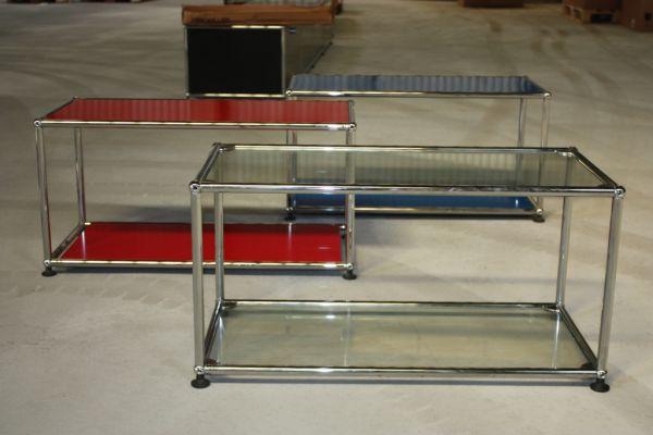 original usm haller fach regal glas b den tisch vitrine schrank vitra gebraucht ebay. Black Bedroom Furniture Sets. Home Design Ideas