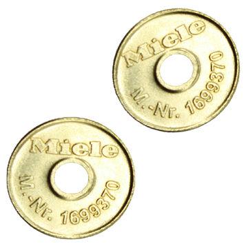 0,95 EUR//Stück M24-2 100 x Wertmarke 24mm x 1,8mm passend für Miele 1699370