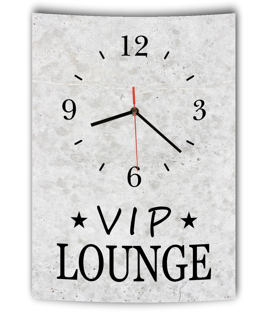 lautlose designer wanduhr mit spruch vip lounge grau betonoptik