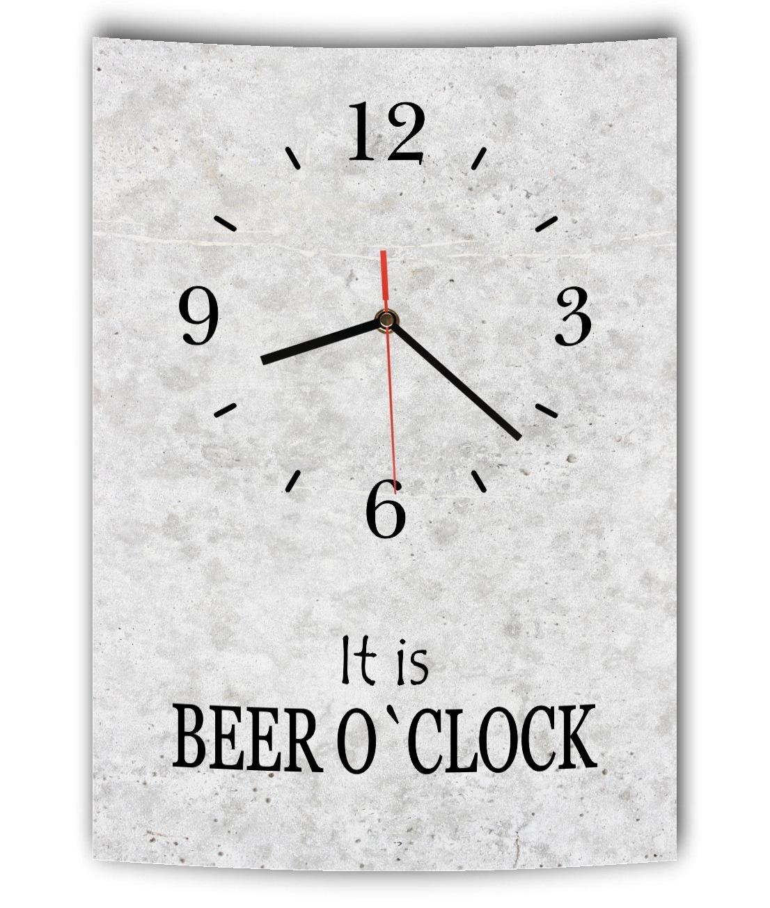 Das Bild Wird Geladen LAUTLOSE Designer Wanduhr Mit Spruch It Is Beer