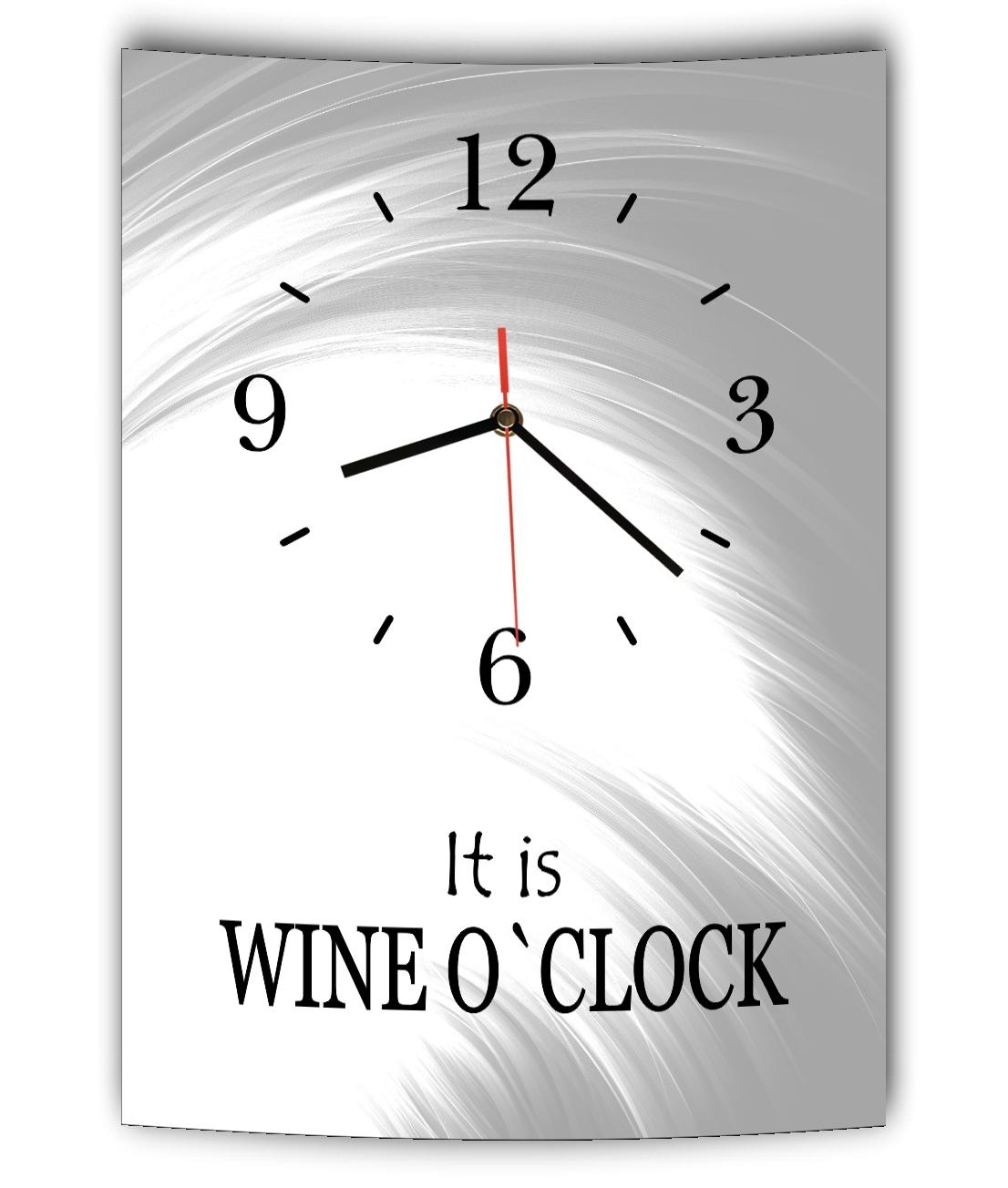 Das Bild Wird Geladen LAUTLOSE Designer Wanduhr Mit Spruch It Is Wine