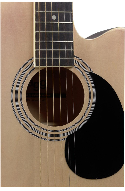 Auditorium Cutaway Elektro-Akustikgitarre mit Decke aus Lindenholz