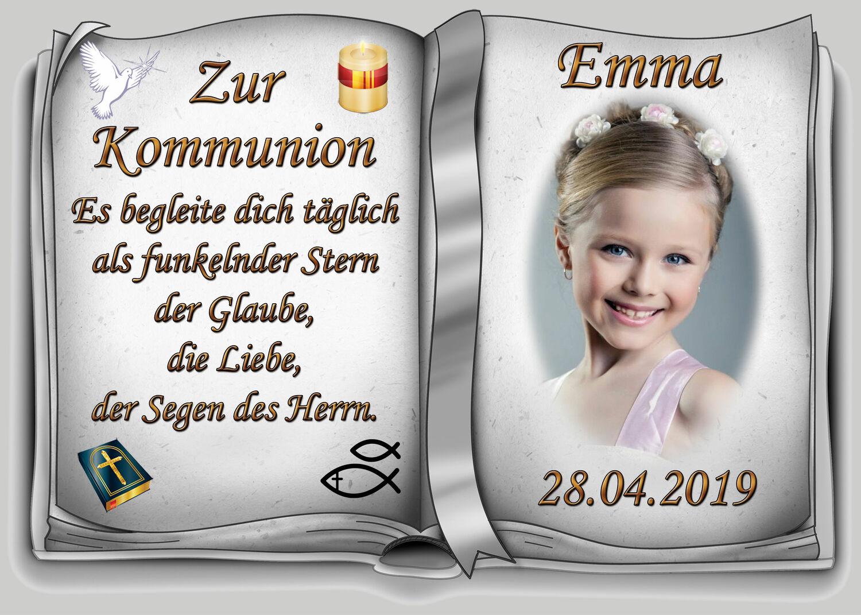 Tortenaufleger Foto Kommunion Zuckerfolie rund 20 cm oder eckig  20 x 28 cm Kommunion & Jugendweihe Sammeln & Seltenes