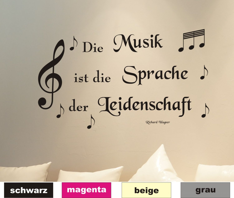 Entzückend Musik Sprüche Dekoration Von Wandtattoo Zitat 01 Noten Sprüche Wandaufkleber Wandbild