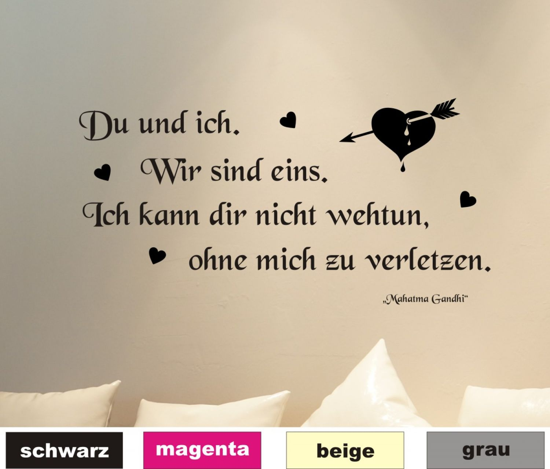 Wandtattoo Wandsticker Wandaufkleber Wohnzimmer Spruch Zitat Liebe lachen W5502