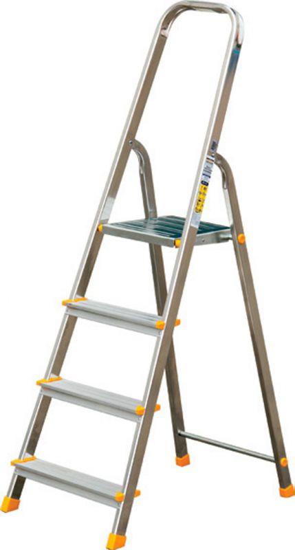 leiter aluleiter stehleiter haushaltsleiter klappleiter aluminium 3 bis 8 stufen ebay. Black Bedroom Furniture Sets. Home Design Ideas