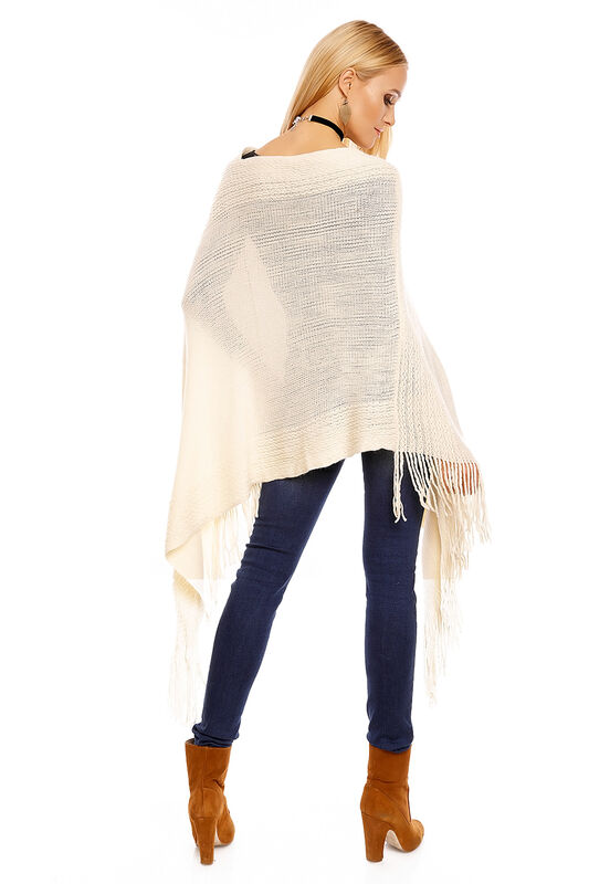 Poncho Cardigan Strickjacke Strickpullover Strickmantel Franzen Sweater GL001