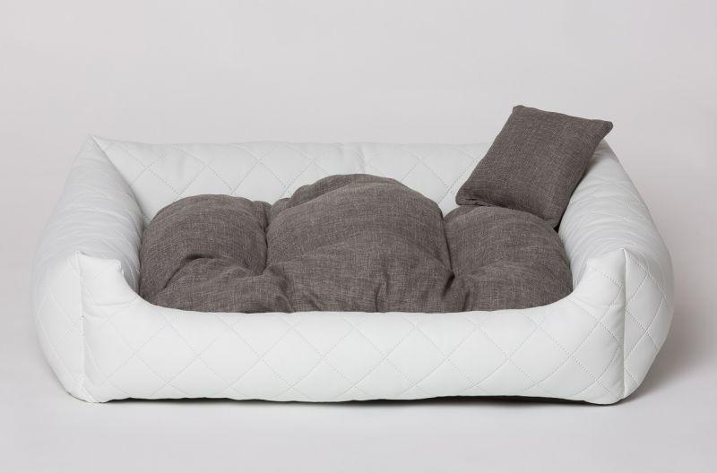 hundebett hundekissen hundesofa katzenbett hundekorb gestepptes kunst leder ebay. Black Bedroom Furniture Sets. Home Design Ideas